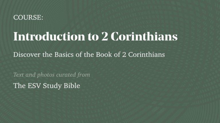 The Gospel Coalition 2 Corinthians Course