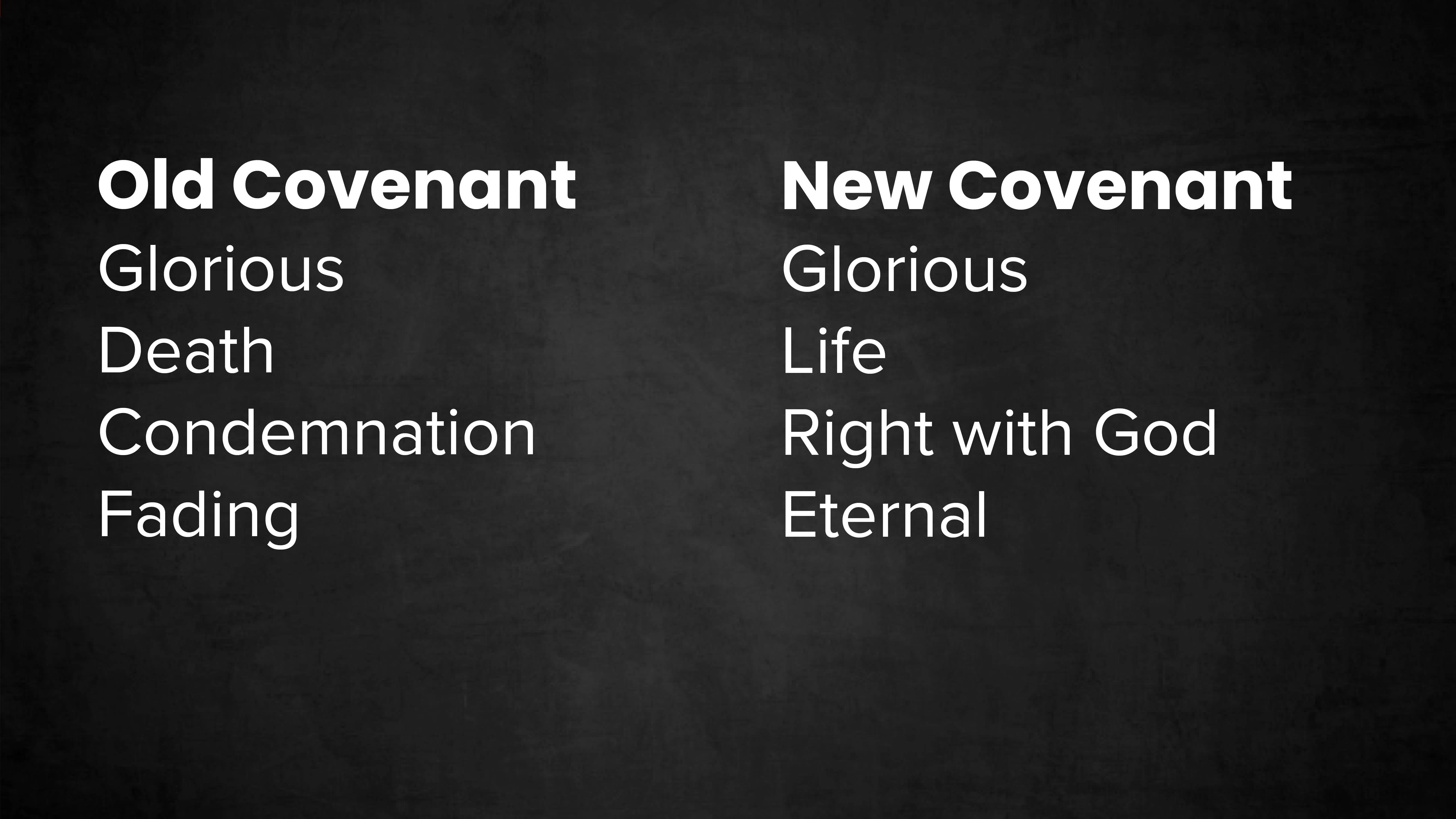 Old and New Covenant
