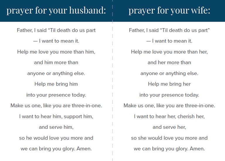 Marriage Prayer Card