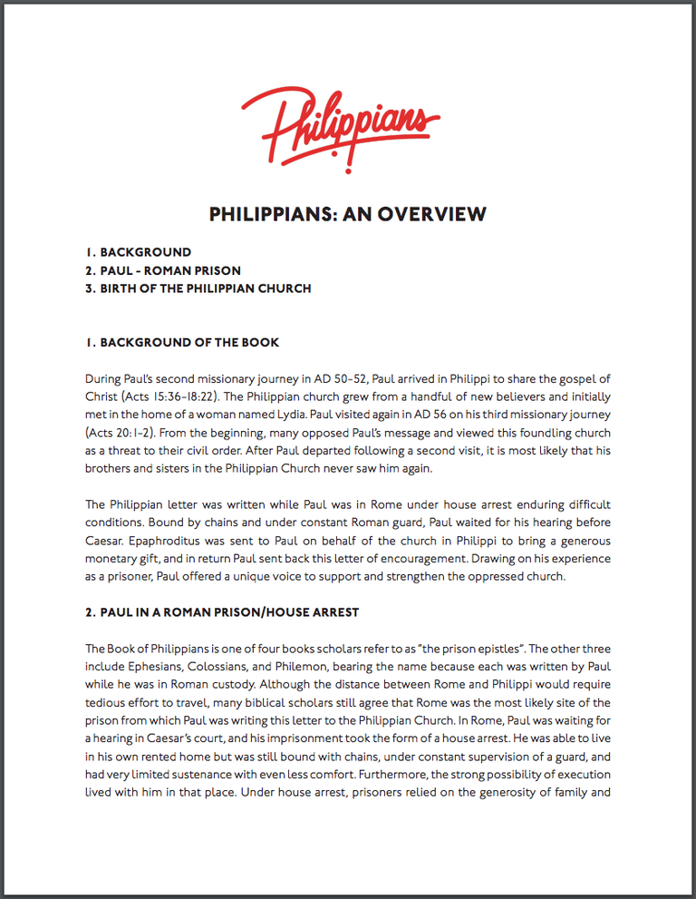 Philippians: An Overview Screenshot1