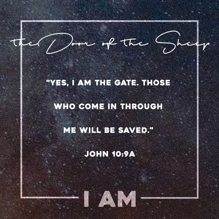 """I AM"" the Door of the Sheep - Instagram1"